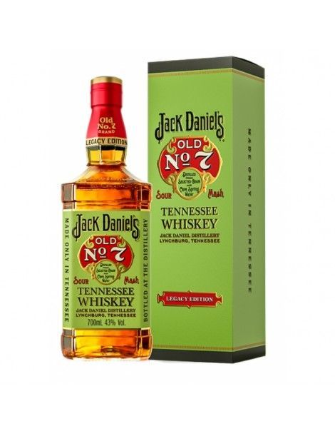 """Tennessee Whisky """"Jack Daniel´s"""" Old nº7 Legacy Edition 70cl 43% vol"""